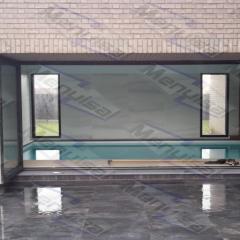 Baie repliable aluminium réalisé par Menuisal à Lesquin prés de Lille